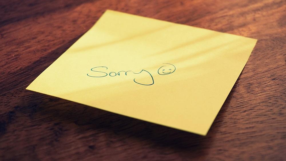Pedir perdón